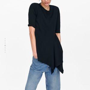 Zara asymmetrical knit top